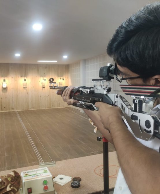 The college has recently established an Indoor 10M Rifle Shooting Range for the students